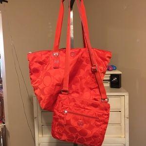 Coach Signature Weekender Travel Bag and Crossbody
